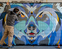 Linux Foundation // Live Painting // Berlin Bear