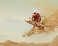 Sand Boarder, U.A.E.