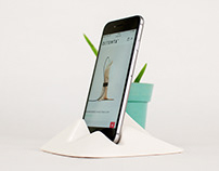Montelouro. Ceramic adaptable mobile devices stand