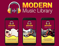 Modern Music Library Android App