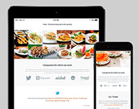 Tablet View - Food WordPress Theme