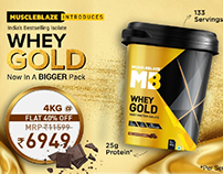 Whey Gold Launch banner