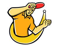 Table Tennis Player Smash Ball Mascot
