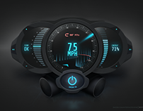 Futuristic Meters User Interface Design