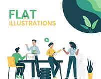 Flat Illustrations for Website - Tree Schema