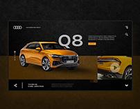 Audi Q8 Landing Page