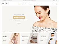 ALANC eCommerce Theme - Free PSD Template