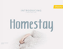 Free Homestay Display Font