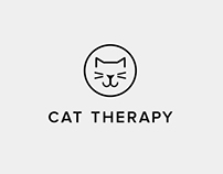 Cat Therapy Logo Design