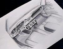 Mustang Interior Illustration