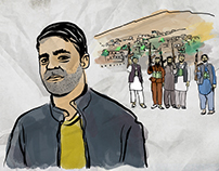 Parwiz, afghan refugee in Berlin (video/illustrations)