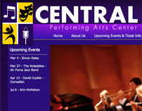 DeWitt Central Performing Arts Center Logo + Website