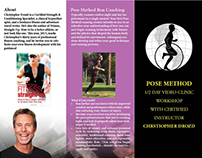 Pose Method Workshop Brochure