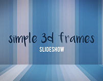 Simple 3D Frames Slideshow