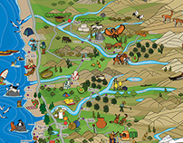 From Pacific to Andes - Illustrated Tourist Map