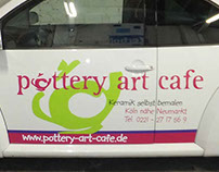 Pottery Art Cafe - Vinyl Lettering & Embroidering