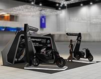 Honda Vario 150 selling booth