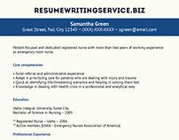 ER Nurse Resume Sample