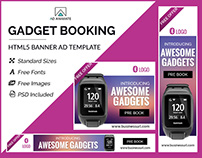 Gadget Booking Banner - HTML5 Ad Templates