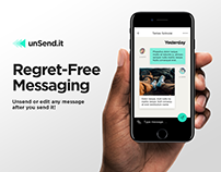 unSend - Messaging App (UI/UX)
