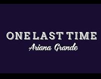 Ariana Grande - One Last Time Lyric Video