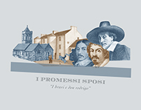 """I Promessi Sposi"" banknotes posters"