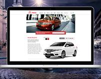 Proposta de site | Honda Takai | UI Design