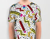 Pencil Print Textile Design