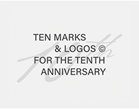 10 MARKS & LOGOS FOR 10TH ANNIVERSARY