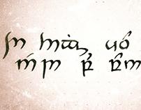 Tengwar Calligraphy