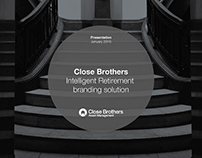 Close Brothers Intelligent Retirement Branding Solution