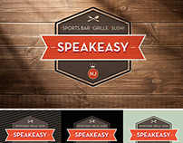 SPEAKEASY bar logo design