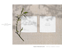 GUINEVERE - Square Business Cards Mockup Set
