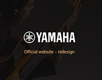 Yamaha official website – redesign concept