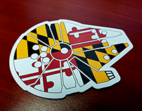 Maryland Falcon magnet