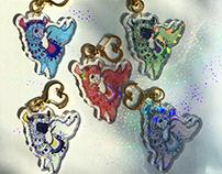 Pride Llama Keychains & Stickers