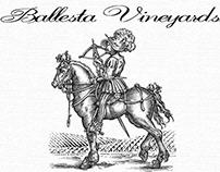 Ballesta Vineyards Label Illustrated by Steven Noble
