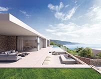 Architectural project rendering_esterior / interior