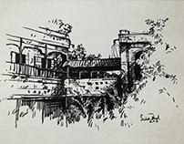 Ink on Paper   by Sadek Ahmed