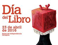 Cartel Día del Libro de Zaragoza 2016
