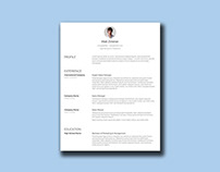 Free Clean Resume Template with Simple Design