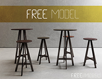 FREE MODEL | Disco stools + table