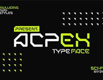 ACPEX SCI-FI TYPEFACE