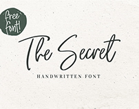 The Secret Handwritten Font Free Commercial Use.