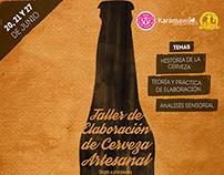 Cartel Taller de Cerveza Artesanal