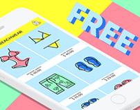 Line icons - FREE - Underwear, beachwear, homewear