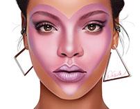 Rihanna's ELLE Cover- Fan Art