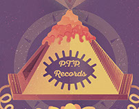 P.T.P Records Live poster design