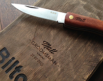 Laser Engraved Cutting Board & Knife
