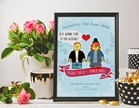 Personalized Lego Wedding Invite / Art Print